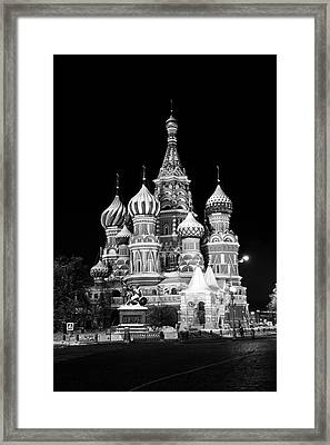St Basils Church In Red Square  Framed Print by Philip Neelamegam