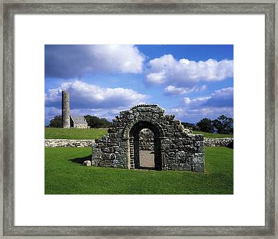 St Brigids Church, Inis Cealtra Holy Framed Print