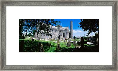 St Canices Cathedral &, Round Tower Framed Print by The Irish Image Collection