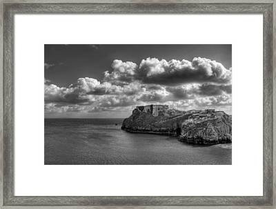 St Catherines Rock Tenby Framed Print by Steve Purnell