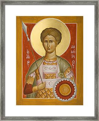St Demetrios The Myrrhstreamer Framed Print by Julia Bridget Hayes