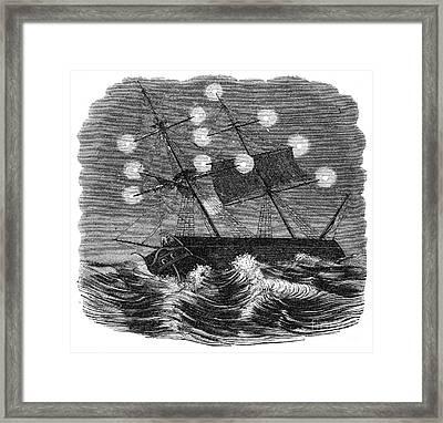 St. Elmos Fire, 1860 Framed Print