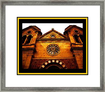 Framed Print featuring the photograph St. Francis Basilica Cathedral by Susanne Still