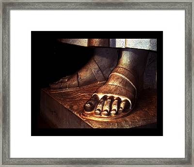 Framed Print featuring the photograph St. Francis Of Assisi's Sacred Feet by Susanne Still