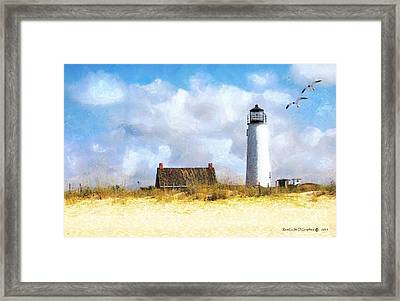 Framed Print featuring the photograph St. George Island Lighthouse by Rhonda Strickland