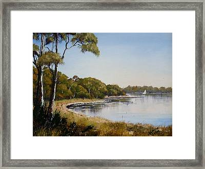 St Georges Basin - Early Morning Framed Print