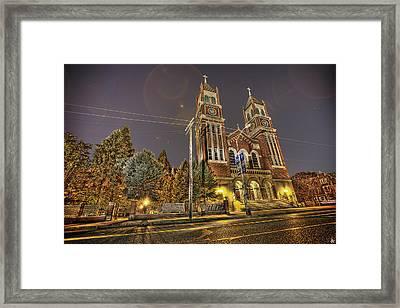 St. Hedwig Detroit Mi Framed Print by Nicholas  Grunas