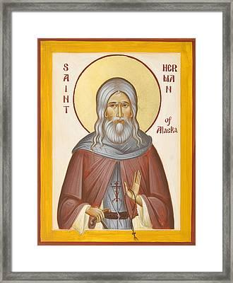 St Herman Of Alaska Framed Print