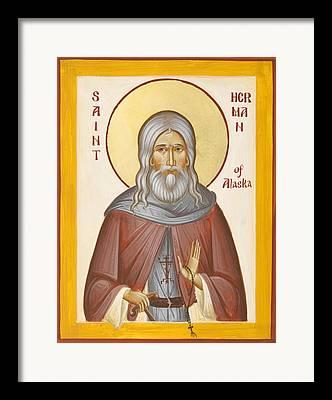 St Herman Of Alaska Framed Prints