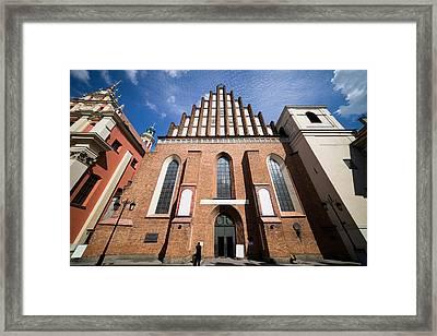 St. John Archcathedral In Warsaw Framed Print by Artur Bogacki