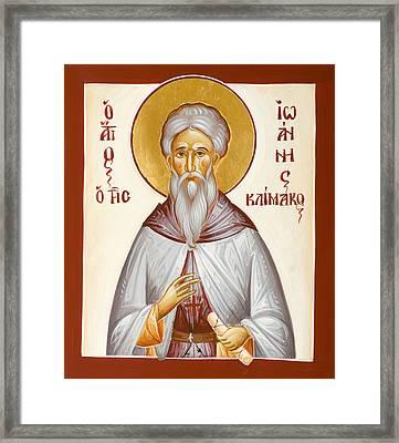 St John Climacus Framed Print