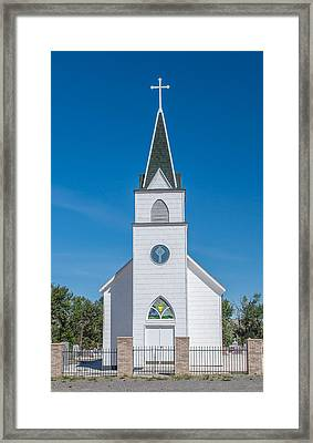 Framed Print featuring the photograph St. John The Evangelist Catholic Church by Fran Riley