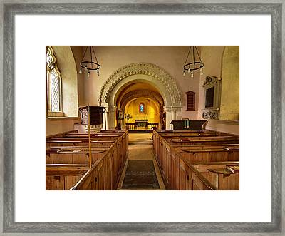 St John The Evangelist Elkstone Gloucestershire Framed Print by Nick Temple-Fry