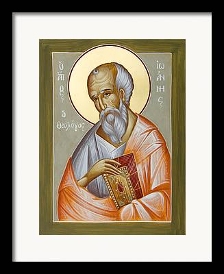 St John The Theologia Paintings Framed Prints