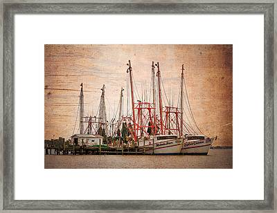 St John's Shrimping Framed Print by Debra and Dave Vanderlaan