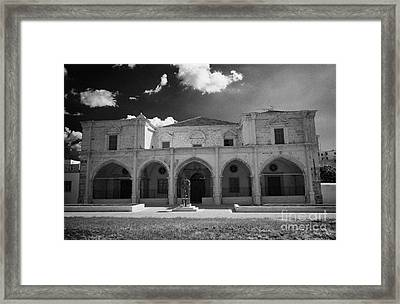 St Josephs Convent And Catholic Church St Joseph De L Apparition Larnaca Republic Cyprus Framed Print by Joe Fox