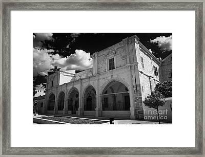 St Josephs Convent And Catholic Church St Joseph De L Apparition Larnaca Republic Of Cyprus Framed Print by Joe Fox