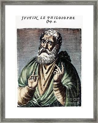St. Justin (c100-c165) Framed Print by Granger