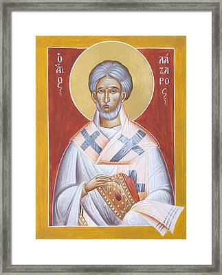St Lazarus Framed Print by Julia Bridget Hayes