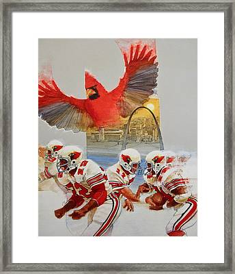 St Louis Cardinals1980 Game Day Cover And Media Guide Cover Framed Print by Cliff Spohn