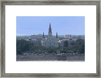 St. Louis Cathedral 2 Framed Print by Diane Ferguson