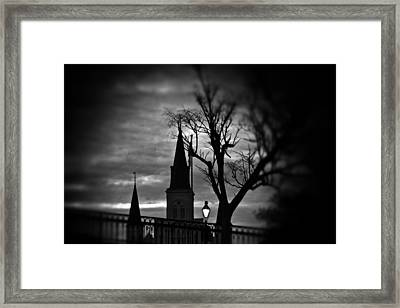 St. Louis Cathedral At Night 1 Framed Print