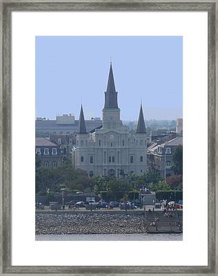 St. Louis Cathedral Framed Print by Diane Ferguson