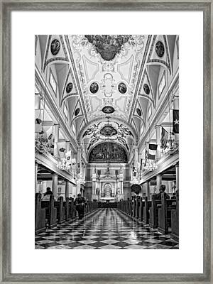 St. Louis Cathedral Monochrome Framed Print by Steve Harrington