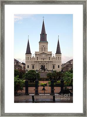 St Louis Cathedral On Jackson Square In The French Quarter New Orleans Framed Print