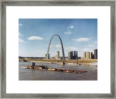 St. Louis: Waterfront Framed Print by Granger