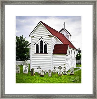 St. Luke's Church And Cemetery In Placentia Framed Print