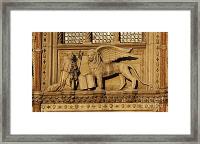 St. Mark The Winged Lion Framed Print by Chris Hill