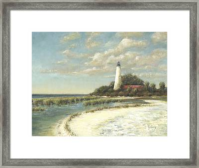 St Marks Light Framed Print
