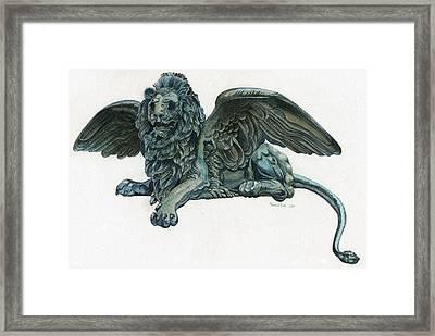 St. Mark's Lion Framed Print by Francesca Zambon
