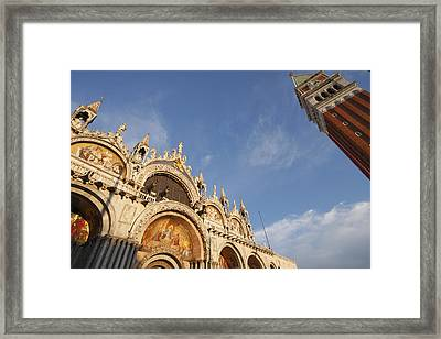 St. Markss Basilica And Campanile Off Framed Print by Trish Punch