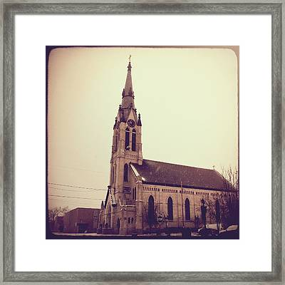 St. Mary Parish Framed Print by Joel Witmeyer