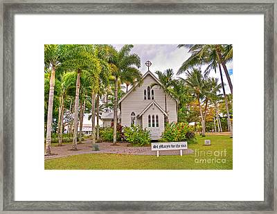 St Mary's By The Sea Framed Print by Bob and Nancy Kendrick