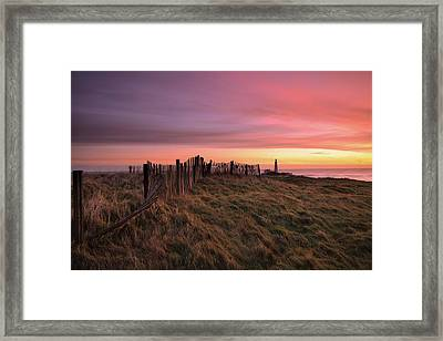 St Mary's Lighthouse, Whitley Bay, Northumberland Framed Print by Tom Hill
