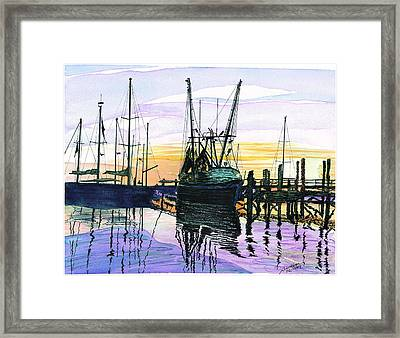 St. Marys Sunset Framed Print by Joel Deutsch