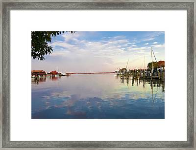 St Michaels Harbor Framed Print by Bill Cannon