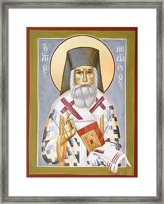 St Nektarios Framed Print by Julia Bridget Hayes