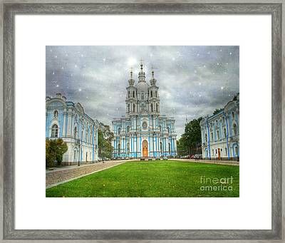 Smolny Convent. St. Petersburg. Russia Framed Print