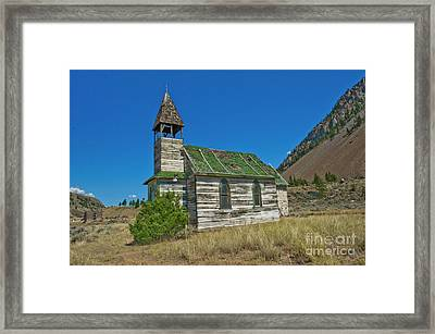 Framed Print featuring the photograph St. Nicholas Roman Catholic Church At Spahomin by Rod Wiens