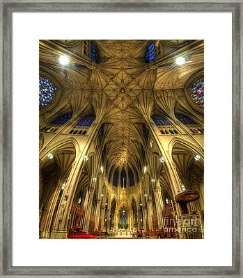 St Patrick's Cathedral - New York Framed Print by Yhun Suarez