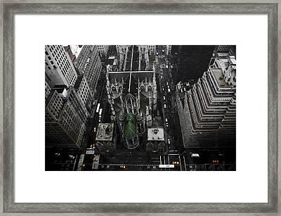St. Patricks Cathedral Framed Print by Marcel Krasner