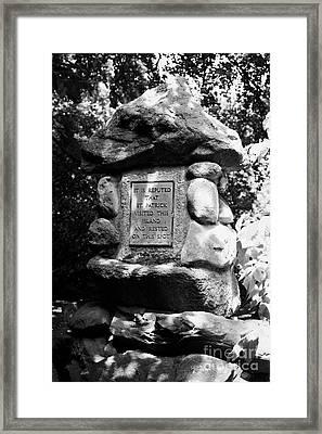 St Patricks Stone On Coney Island Lough Neagh Northern Ireland Uk Framed Print by Joe Fox