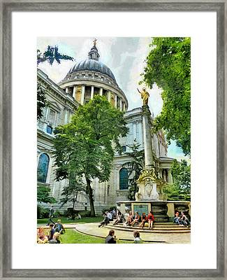 St Paul Is Giving His Blessing Framed Print by Steve Taylor