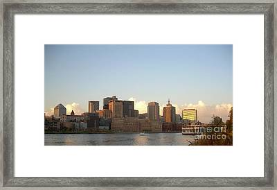 St. Paul Skyline Framed Print