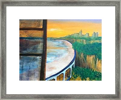 St Paul Valley With Pool Framed Print by Richard  Hubal