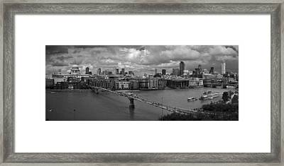 St Paul's And The City Panorama Bw Framed Print by Gary Eason
